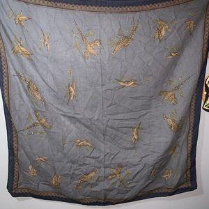 Ginnie Johansen wool pheasant scarf